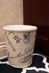 Ballard Inspired DIY Fabric Covered Garbage Can