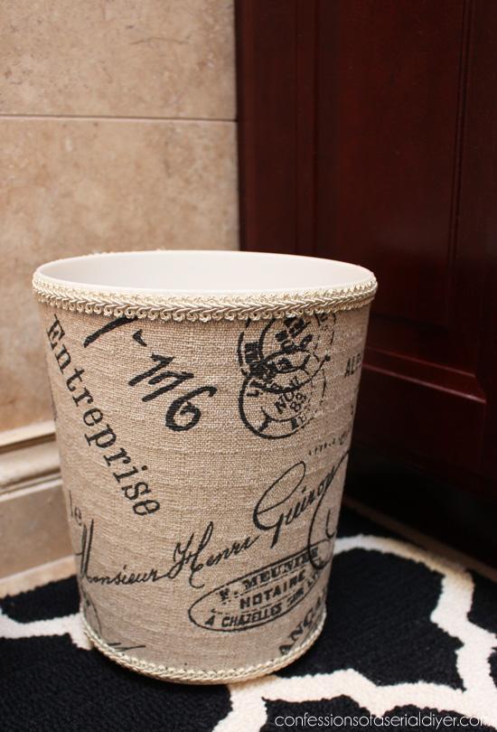 Ballard Inspired DIY Fabric Covered Garbage Can