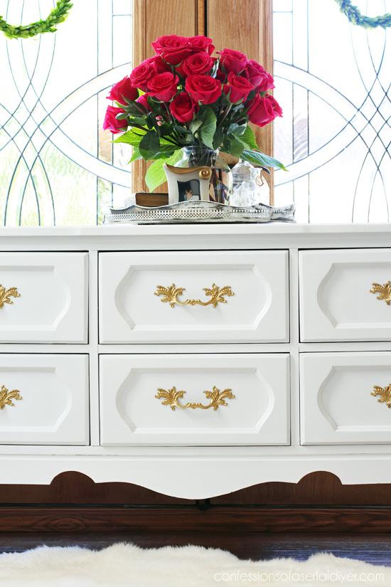 Vintage Dresser Makeover from confessionsofaserialdiyer.com