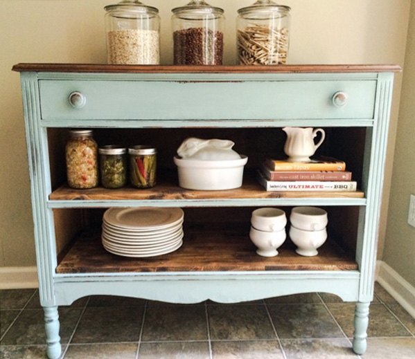 Dresser makeover from A Junkchick Life