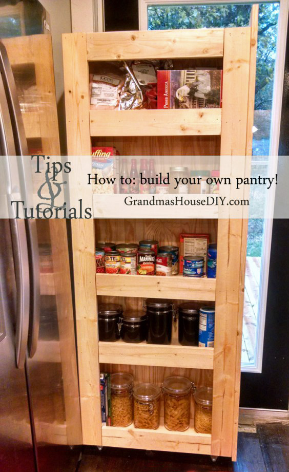 DIY Rolling Pantry from Grandsma's House DIY