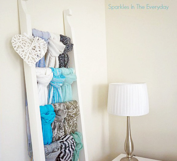 DIY Scarf Storage from Sparkles in the Everyday