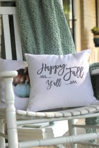 Fall pillows and free printable from Artsy Chicks Rule