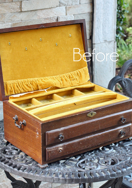 Paris Jewelry Box Makeover