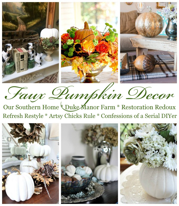 Decorating with Faux Pumpkins
