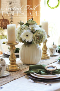 Neutral Fall Tablescape {& Five Minute Napkin Rings}