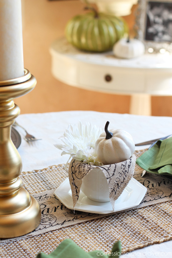 Neutral Fall Tablescape from confessionsofaserialdiyer.com