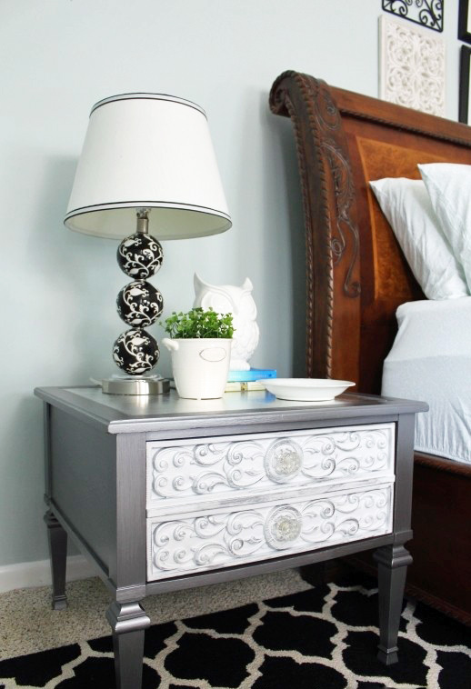 Glam Side Table Makeover from confessionsofaserialdiyer.com