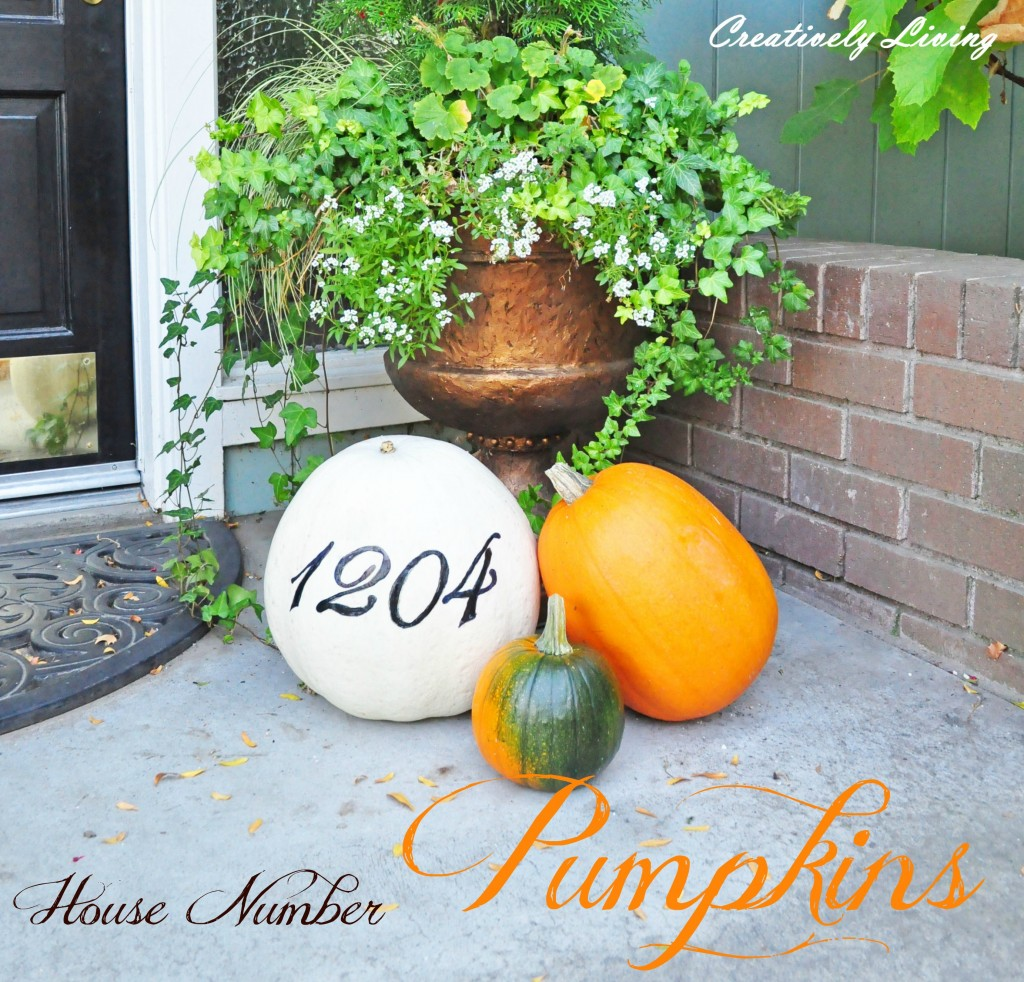 House Number Pumpkins from Creatively Living