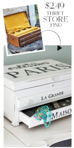 Paris Inspired Jewelry Box Makeover from confessionsofaserialdiyer.com