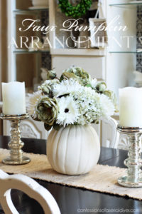 Faux Pumpkin Arrangement