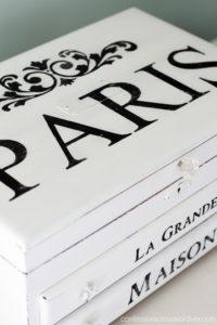 Paris Inspired Jewelry Box Makeover