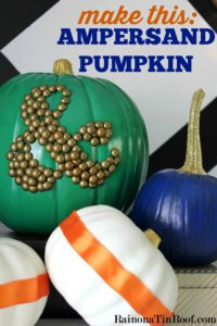 Ampersand Pumpkin from Rain on a Tin Roof