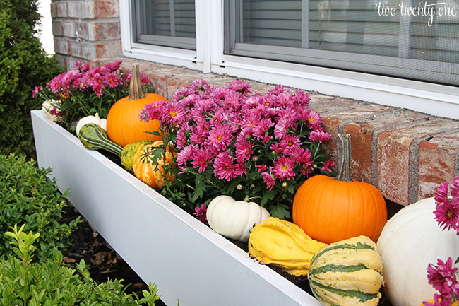 Fall Outdoor Decor from Two Twenty One