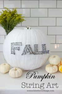 Pumpkin String Art from So Much Better with Age
