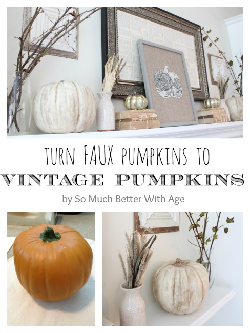 Vintage Chalk Paint Pumpkins from So Much Better with Age