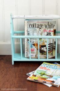 Magazine rack updated from confessionsofaserialdiyer.