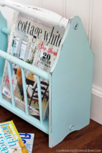 Magazine rack updated from confessionsofaserialdiyer.