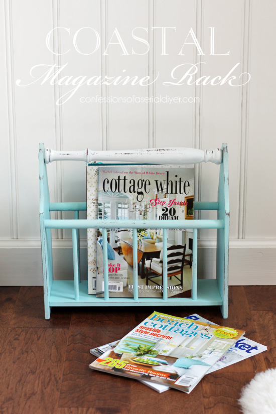 Magazine rack updated from confessionsofaserialdiyer.com
