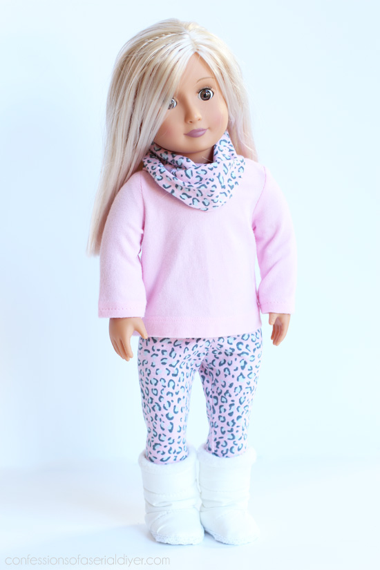 Turn old kid's clothes into American Girl doll clothes from confessionsofaserialdiyer.com
