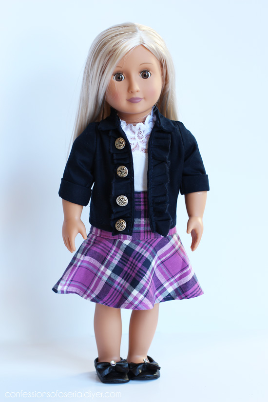 Turn old kid's clothes into doll clothes from confessionsofaserialdiyer.com