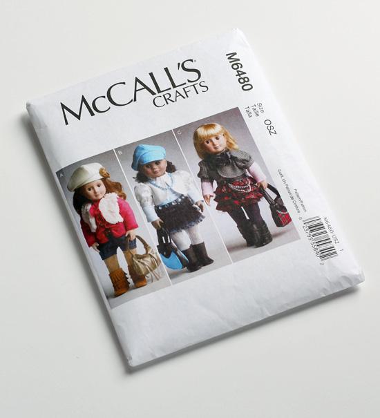 McCalls doll clothing pattern