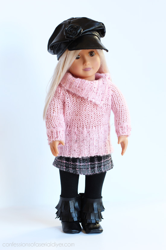 Turn old children's clothes into doll clothes from confessionsofaserialdiyer.com