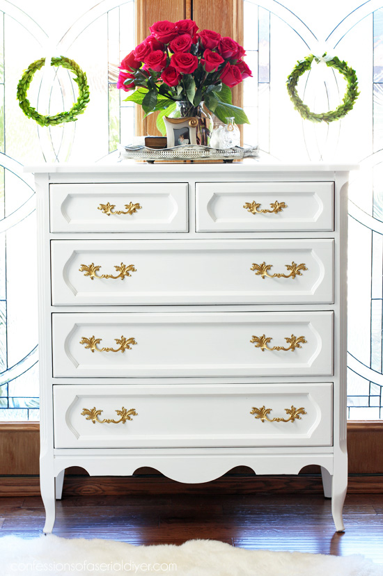 Painted Vintage Dresser from confessionsofaserialdiyer.com