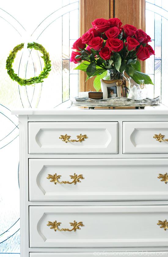 Painted Vintage Dresser from confessionsofaserialdiyer.com