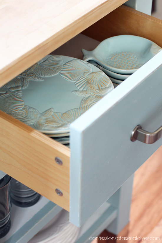 Kitchen Island Update mini kitchen island update | confessions of a serial do-it-yourselfer