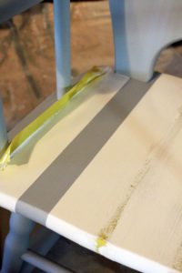 FrogTape is perfect for creating stripes on furniture.