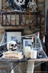 Halloween display from confessionsofaserialdiyer.com