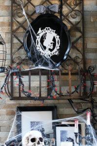 Metal Tray Turned Halloween Display