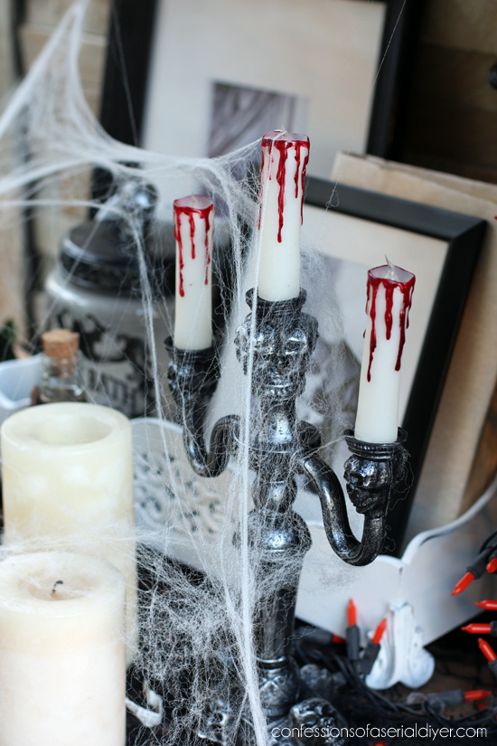 Halloween display from confessionsofaserialdiyer.com