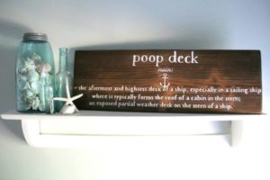 DIY Bathroom sign from Artsy Chicks Rule