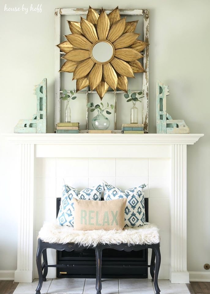 Use an old window for a backdrop from House by Hoff