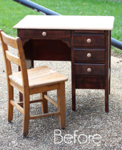 Child's Antique Desk Makeover