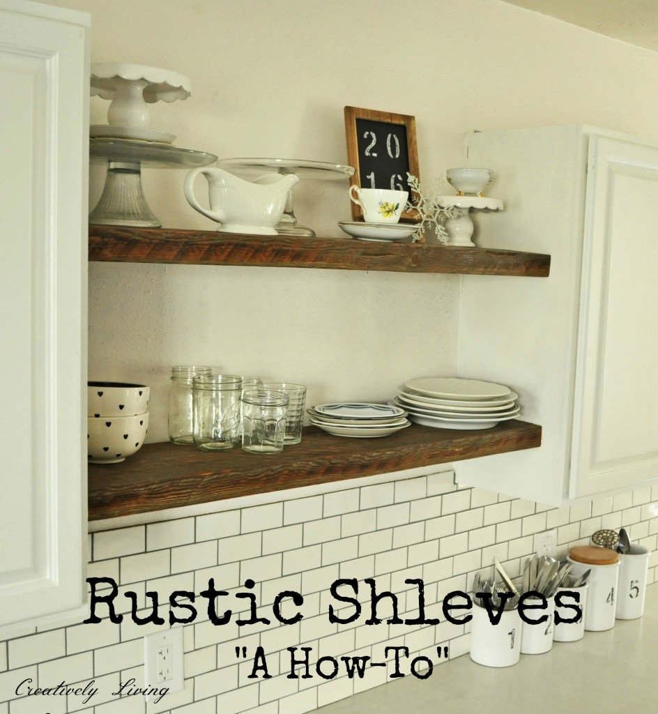 DIY Rustic Wood Shelves from Creatively Living