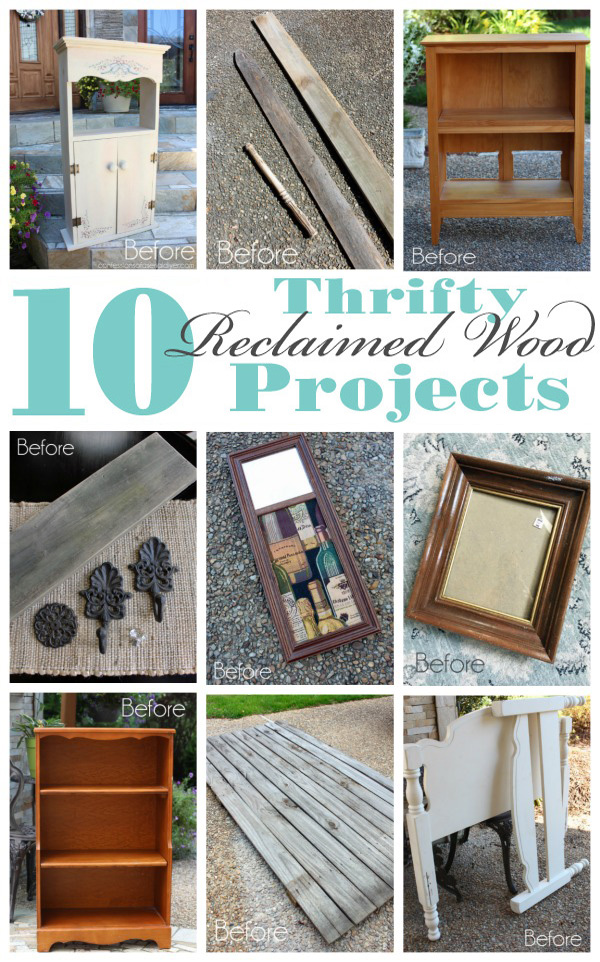 10 Reclaimed Wood Projects from confessionsofaserialdiyer.com