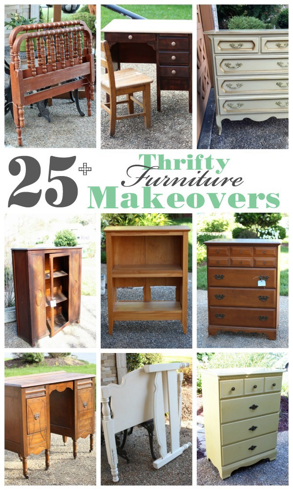 25+Thrift store, yard sale, estate sale furniture makeovers from confessionsofaserialdiyer.com