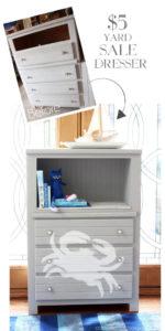 $5 Yard Sale Dresser makeover from confessionsofaserialdiyer.com
