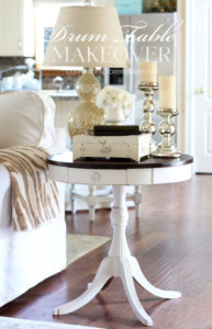 Drum table makeover from confessionsofaserialdiyer.com