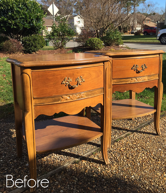 Vintage Estate Sale Night Tables Makeover (& other finds)