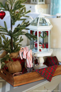 Light Fixture turned Holiday Cloche from confessionsofaserialdiyer.com