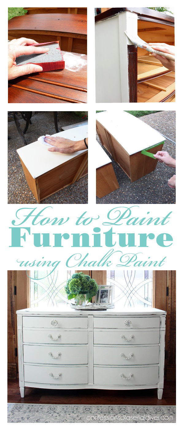 Excellent tutorial for how to paint furniture using chalk paint step-by-step from confessionsofaserialdiyer.com