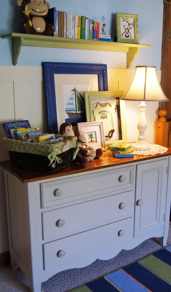 Remove the awkward hump from a baby changing table!