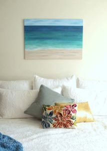 DIY Beach Painting from Artsy Chicks Rule