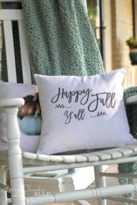 DIY Fall Pillows & Free Printables from Nancy at Artsy Chicks Rule