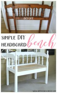 DIY Headboard Bench from Nancy at Artsy Chicks Rule