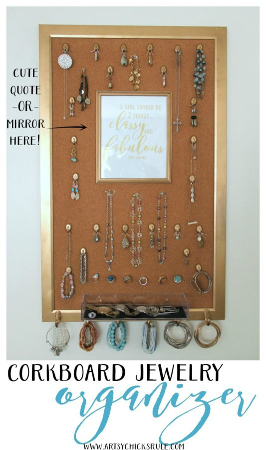 DIY Jewelry Organizer from Artsy Chicks Rule
